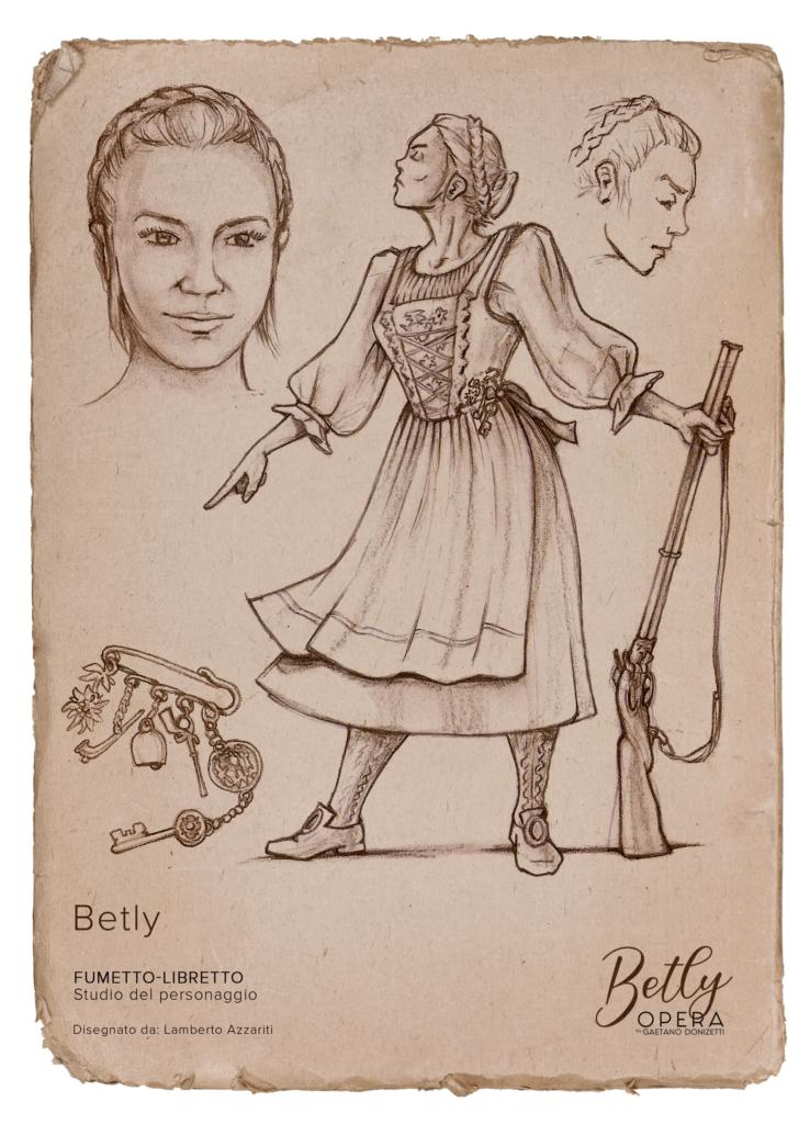 Betly Starner - Betly Opera by Gaetano Donizetti - Lamberto Azzariti Illustrator