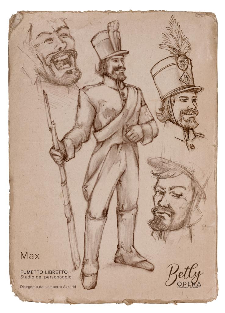Max Starner - Betly Opera by Gaetano Donizetti - Lamberto Azzariti Illustrator